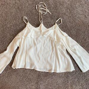 White chiffon blouse size XS